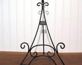 """15"""" EASEL EIFFEL TOWER Large Black Tabletop Wedding Display Picture Frames Photo Frame Plates Sign Table Numbers Chalkboard Stands Table Top"""