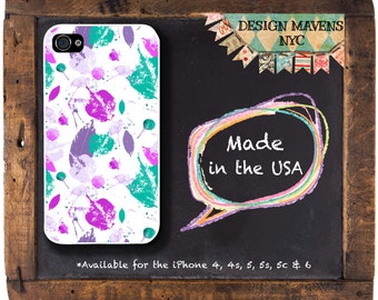 Colorful Leaves iPhone Case, Floral iPhone Case, iPhone 4, 4s, iPhone 5, 5s, 5c, iPhone 6, 6 Plus, Plastic iPhone Case, Phone Cover
