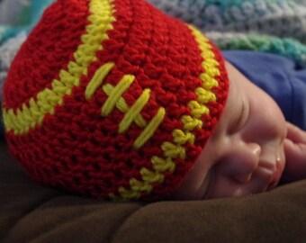 FREE SHIPPING Kansas City Chiefs Baby Football Beanie Newborn & 0-3 Months