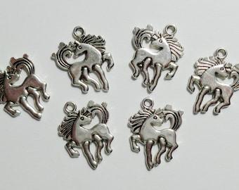 Retro Horse Design Charms set of 6 / #068
