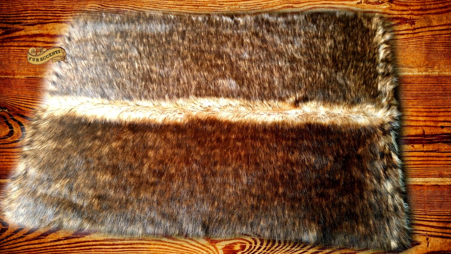 Fur accents faux fur rug wolf coyote bear pelt by for Fur rugs