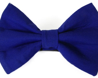 Royal blue dog bow tie & cat bow tie