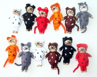 Guatemalan Worry Cat Dolls