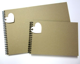 Blank A4/A5 Vintage Kraft Scrapbook, Photo Album, Guest Book, Display, Gift