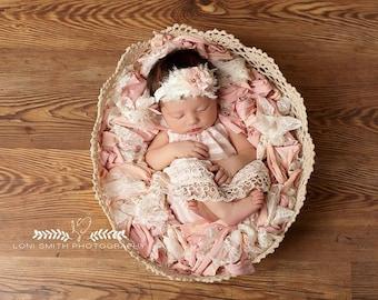 Newborn Basket Stuffer • Pink Paradise • Newborn photo prop | Ready to Ship