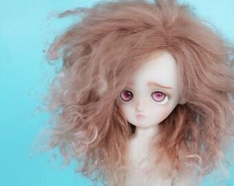 """BJD mohair wig - 6/7"""" - Antique Pink"""