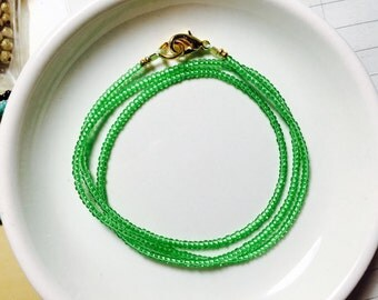 SALE - Seed Beads Wrap Bracelet or Necklace