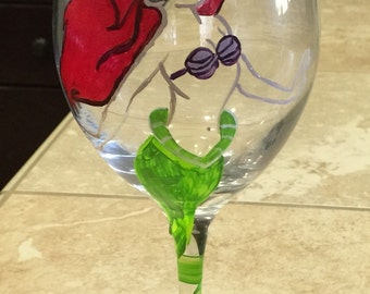 Little Mermaid Wine Glass