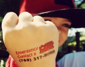22 Child Emergency Contact Number Temporary Tattoos