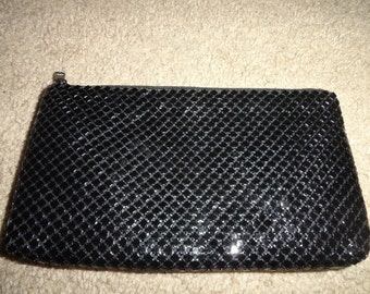 Vintage Makeup Cosmetic accesories Bag mesh material 8 inch by 5 inch