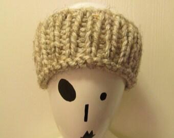 SALE-Oatmeal Knit Ear Warmer