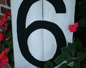 Wood number sign!  So many creative uses for this!