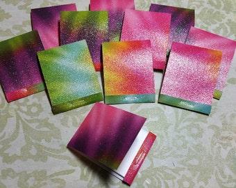10 Decorative Matchbook note pads. #U-107