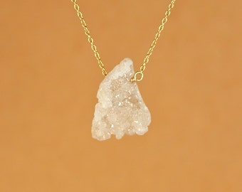 Crystal necklace - angel aura crystal - aura crystal - druzy necklace - an angel aura crystal on a 14k gold vermeil or sterling silver chain