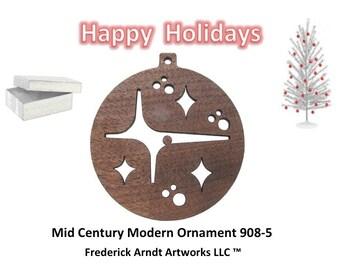 908-5 Mid Century Modern Christmas Ornament