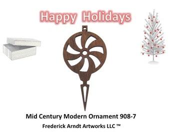 908-7 Mid Century Modern Christmas Ornament