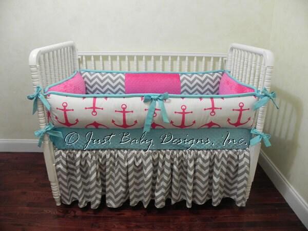 Custom Nautical Baby Bedding Set Chauna Girl Baby Bedding