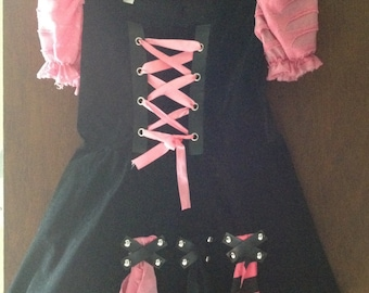 Misses/Juniors French Maid Costume, Size Large 12-14,  Halloween Costume, Pirate, Maid
