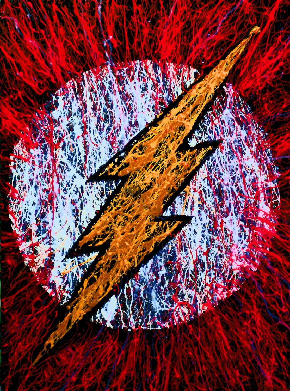 Le flash classique flash affiche super h ros chambre des - Flash le super heros ...