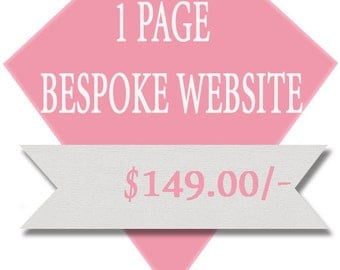 Bespoke Website 1 Page, Affordable, Cheap, Professional