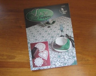 Crochet Project Book.  Make Lacy Table Toppers, Annie's Attic, Table Runners, Doilies Vintage