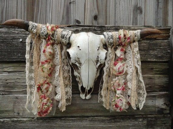 Cow Skull, Faux Taxidermy, Boho Wall Decor, Animal Skull, Steer Skull,