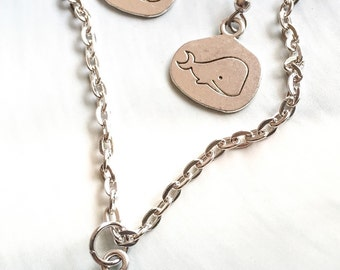Whale necklace set, At sea I find peace