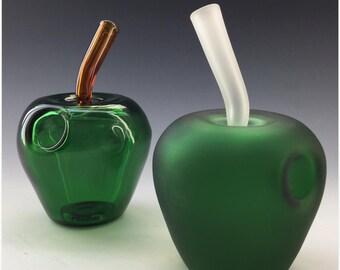 Apple Glass Tobacco Pipe - Q*104