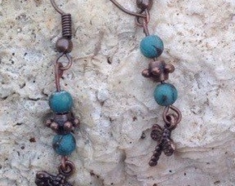 Dragonfly with Turquoise