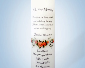 Wedding Memorial Candle Red Rose