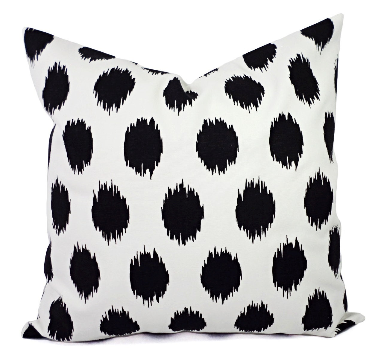 Black White Ikat Pillow Covers Two Black and White Pillows
