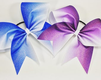 Ombre glitter bow. Ask about bulk discounts, color and mascot options.
