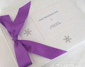 Winter/Christmas Snowflake Wedding Photo Album