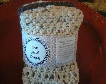 Trio of Crochet Dishtowels