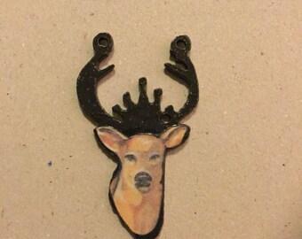 Deer Metal Charm