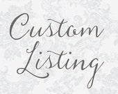 Reserved Listing for Joelle Israel