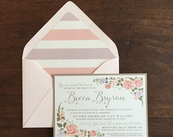 Floral Bridal Shower Invitation // Floral // Pastels // Purchase this Deposit to Get Started