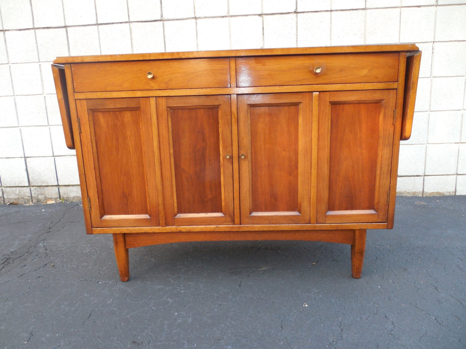 Mid century modern console table a superb vintage mid - Table haute console ...