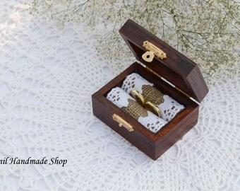 Wedding Ring Box, Ring Bearer Box, Engagement Ring Box, Ring Pillow