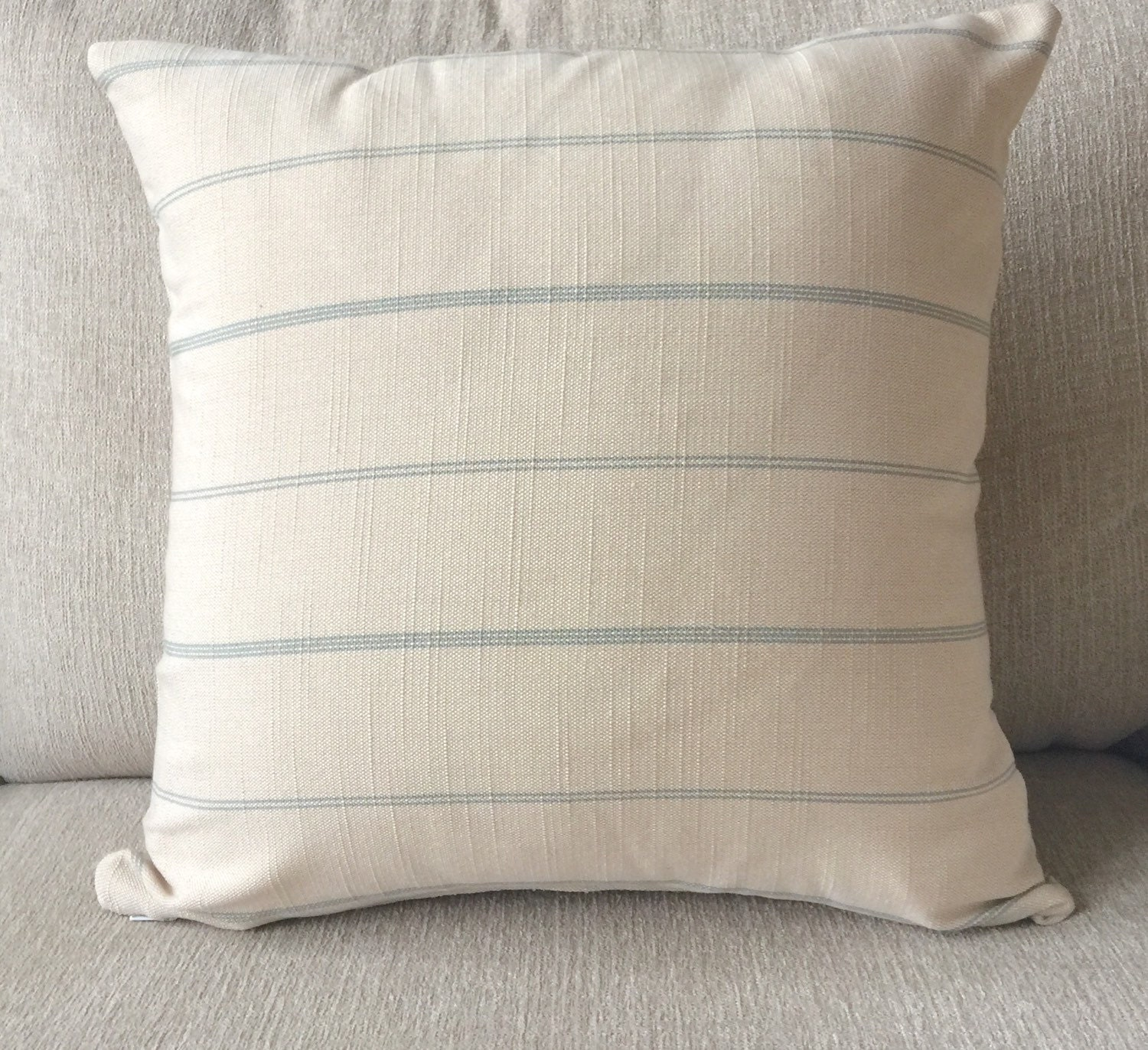 Throw Pillow Covers Farmhouse : Decorative pillow cover french farmhouse light beige with