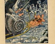 Original Antique Book Print From Flower  Children Book.   Gorgeous-  Jack Frost Fairy