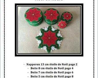 "Schéma ""Noel en fleur"" en tissage danois"