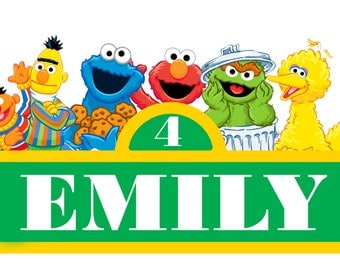Personalized Sesame Street Sign (Digital or Printed)
