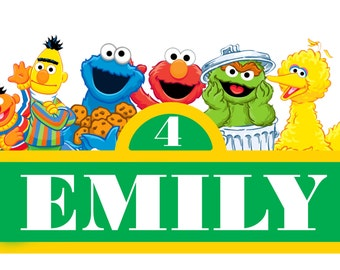Sesame street sign etsy pronofoot35fo Choice Image