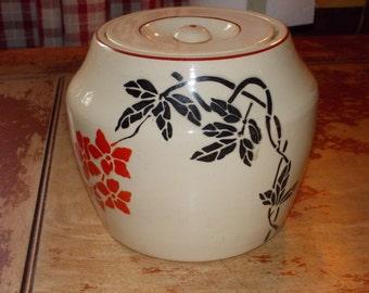 c-vintage grease jar stoneware