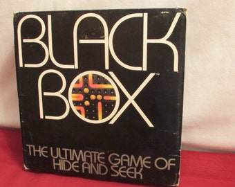 BLACK BOX Parker Brothers 1978 The Ultimate Game of Hide and Seek