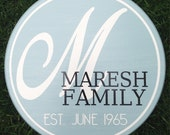 The Belmont ~ Initial Family Name Established Date Sign ~ Personalized Family Sign ~ Established Sign ~