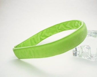 Light Green Velvet Headband