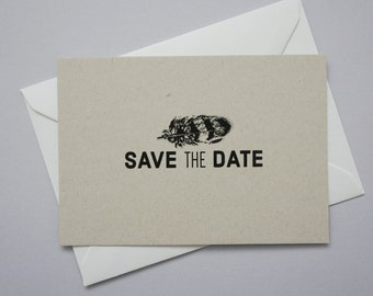 Rustic Feather Save The Date