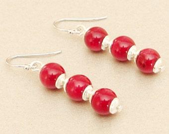 Earrings ear jewelry red coral